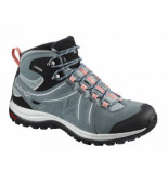 Salomon Wandelschoen women ellipse 2 mid leather gtx le stormy blauw