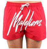 Malelions Signature swimshort rood
