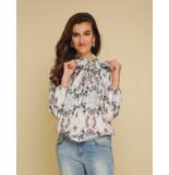 Jantje Korten Fashion Bow blouse print jk403 blauw
