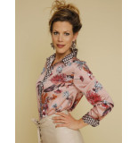 Jantje Korten Fashion Blouse print bloem roze jk404
