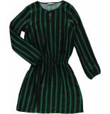 Geisha 97834-20 530 jurk stripe elastic waistband green/black combi zwart