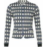 Geisha Jacket blue/black combi blauw