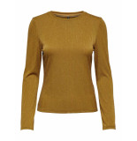 Only Cosmo l/s glitter top goud