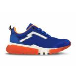 Red Rag Sneaker oranje kobalt blauw