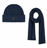 Dstrezzed scarf & beanie blauw