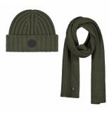 Dstrezzed scarf & beanie groen