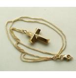 Christian Gouden collier met kruis