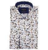 Cavallaro Cavallaro overhemd shirt bloemprint 1095073-04000 wit