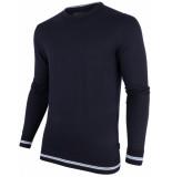 Cavallaro Cavallaro pullover ronde hals merino 1895005-63000 blauw