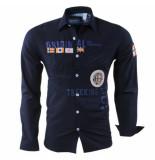 Geographical Norway Heren overhemd slim fit zoliday blauw