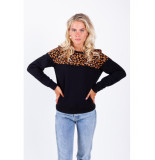 Colourful Rebel Leopard block basic zwart