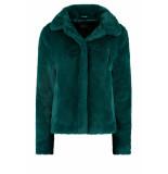 DIDI Fake fur jas blauw