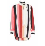 DIDI Oversized blouse met verticale strepen rood