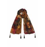 DIDI Sjaal met print bruin