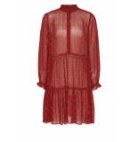 DIDI A-lijn jurk met print rood