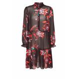 DIDI A-lijn jurk met print bruin