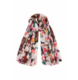 DIDI Soepel all-over print sjaal bruin