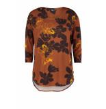 DIDI Losvallende t-shirt met print bruin