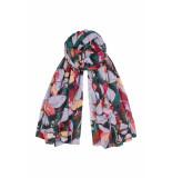 DIDI Soepel all-over print sjaal groen