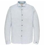 Cast Iron Long sleeve shirt jersey slub piqu chambray blue blauw