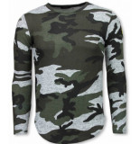 Justing Leger print borduur shirt long sleeve t-shirt