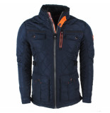 Wildstream Heren gewatteerd jack model lekoha navy blauw