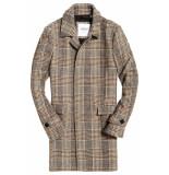 Superdry Edit wool car coat camel check bruin
