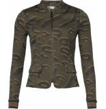 Geisha Jacket army combi groen