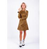 Colourful Rebel Robijn Jacquard Leopard Dress bruin