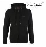 Pierre Cardin Heren vest capuchon sweat zwart