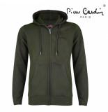 Pierre Cardin Heren vest capuchon sweat groen