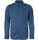 Noize Shirt, l/s, all over printed pinquin