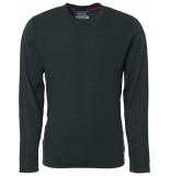 Noize Pullover, r-neck, bubble knit groen
