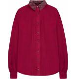10 Feet Luxurious silk blouse pintucks fuchsia roze