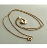 Christian 14 karaat gouden collier met hanger geel goud