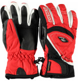 Ziener Rode ski handschoenen kind linski ergonomisch voorgevormd rood