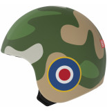 Egg Helmets Skin tommy om over de basis helm te dragen groen