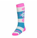 Spyder /blauw/witte meisjes skisokken girl's snowflake roze