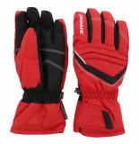 Ziener Rode kinder ski handschoenen lakeview met aquashield rood