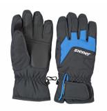 Ziener Met blauwe ski handschoenen lizzard waterproof zwart