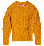 Superdry Sophie ann cable knit geel