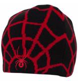 Spyder / rode kindermuts boy's web gevoerd met fleece zwart