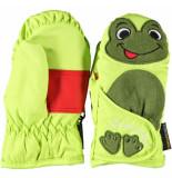 Ziener Kinderwanten lanimal mini's met ruime klitteband overslag groen