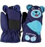 Ziener Kinderwanten lanimal mini's met ruime klitteband overslag blauw