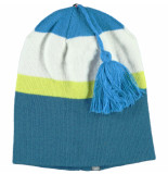Color Kids Blauwe kindermuts gulcan in beanie model en reversible zwart