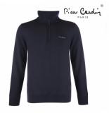 Pierre Cardin Heren sweater met rits navy blauw