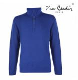 Pierre Cardin Heren sweater met rits blauw