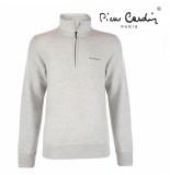 Pierre Cardin Heren sweater met rits grijs