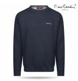 Pierre Cardin Heren sweater ronde hals navy grijs