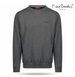 Pierre Cardin Heren sweater ronde hals donker grijs